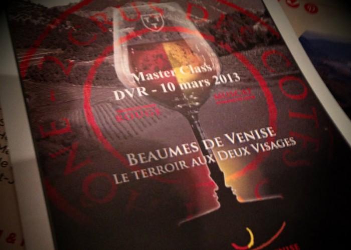 Masterclass Beaumes de Venise - salon Découvertes en Vallée du Rhône 2013 - DVR2013