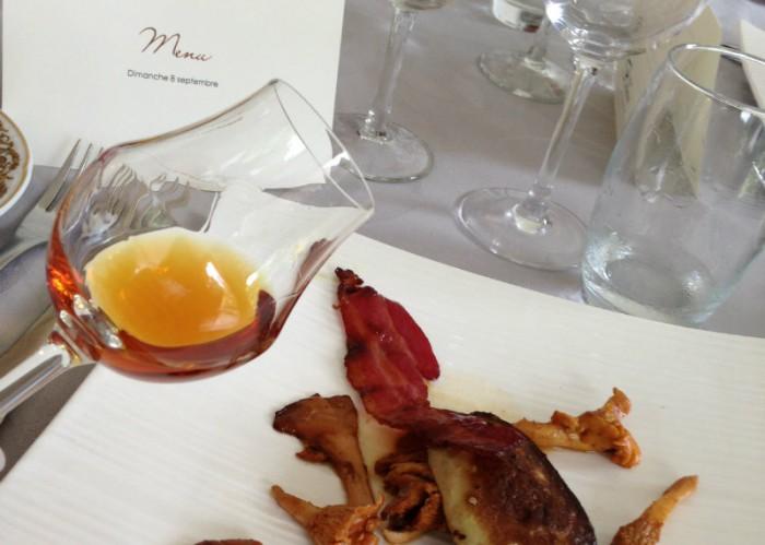 Armagnac et escalope de foie gras du Gers au Chateau Bellevue
