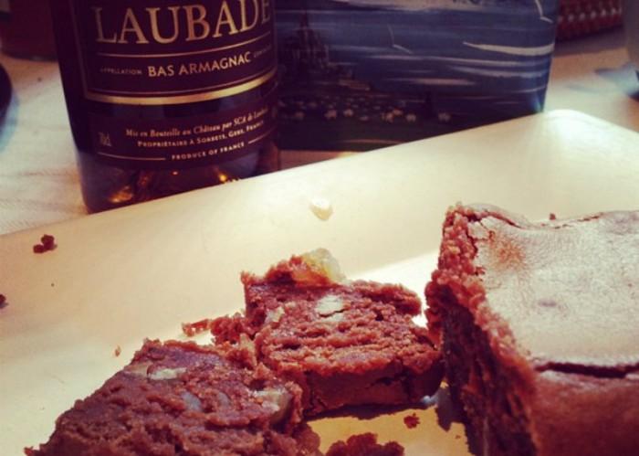 Fondant chocolat marron armagnac