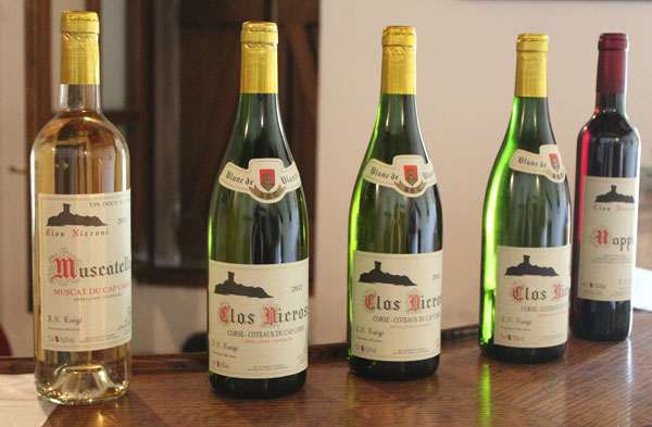 Les vins du Clos Nicrosi