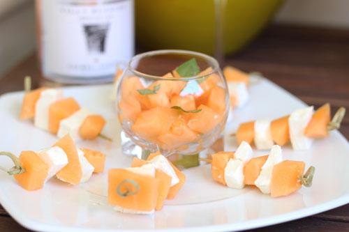 Brochettes-Melon-Chèvre-Frais
