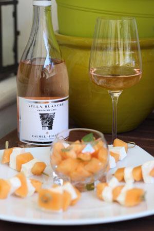Rosé-Villa-Blanche-Melon-Chèvre-Frais